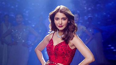 Anushka Sharma in Red Cocktail Dress